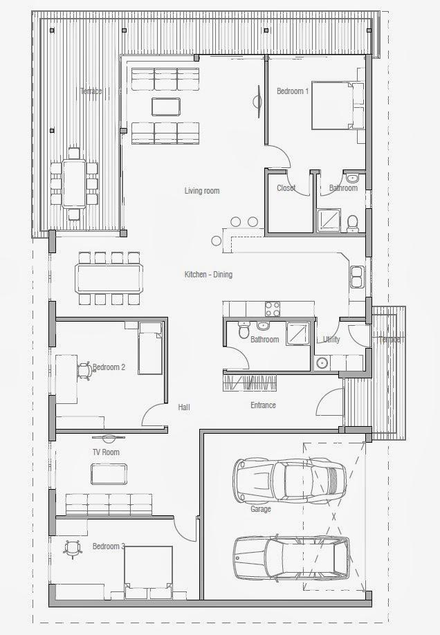 Affordable home plans affordable house plan ch169 for Affordable floor plans