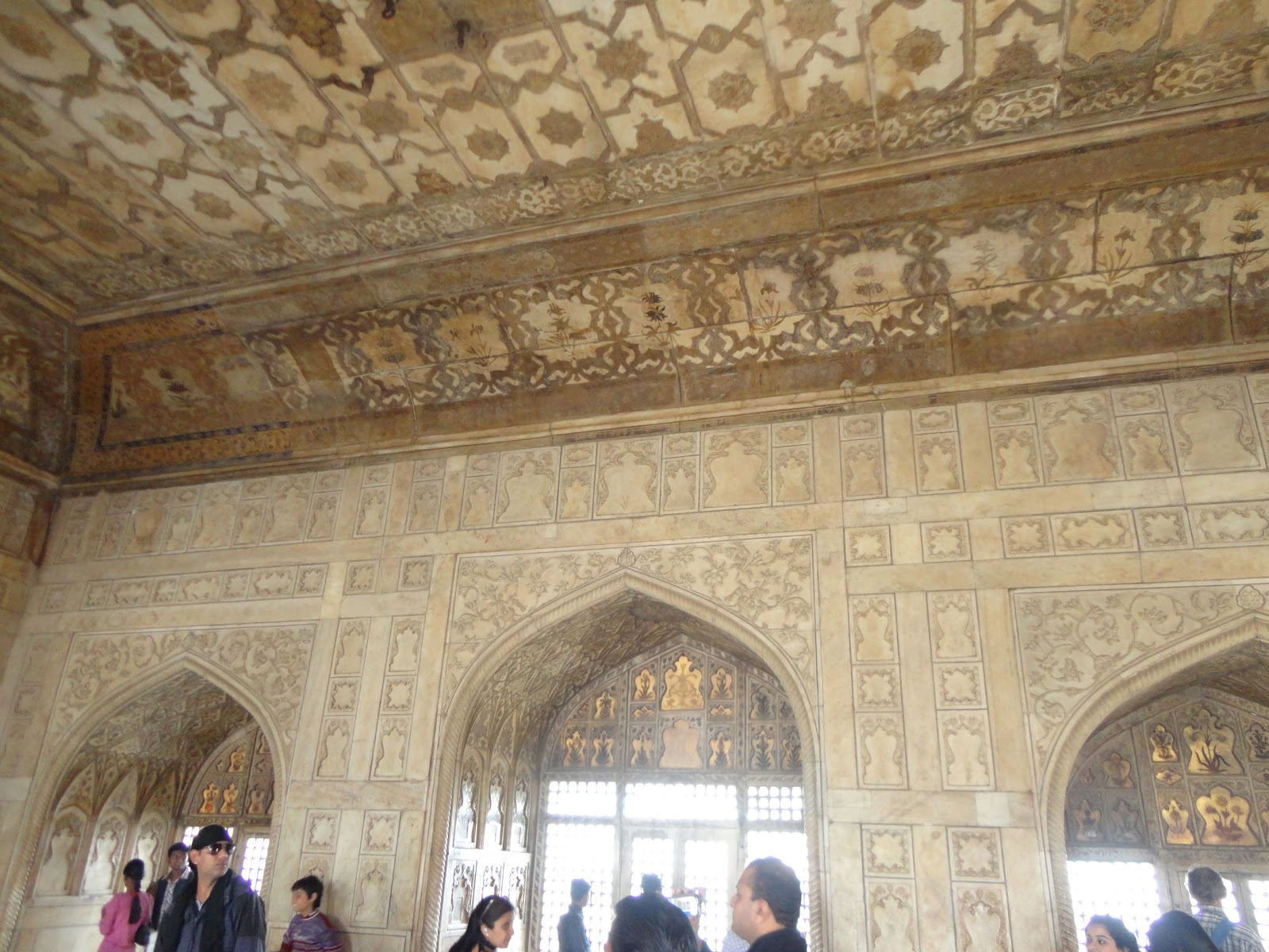 exquisite Paintings on Ceiling of Emperor Shah Jahan Bedroom