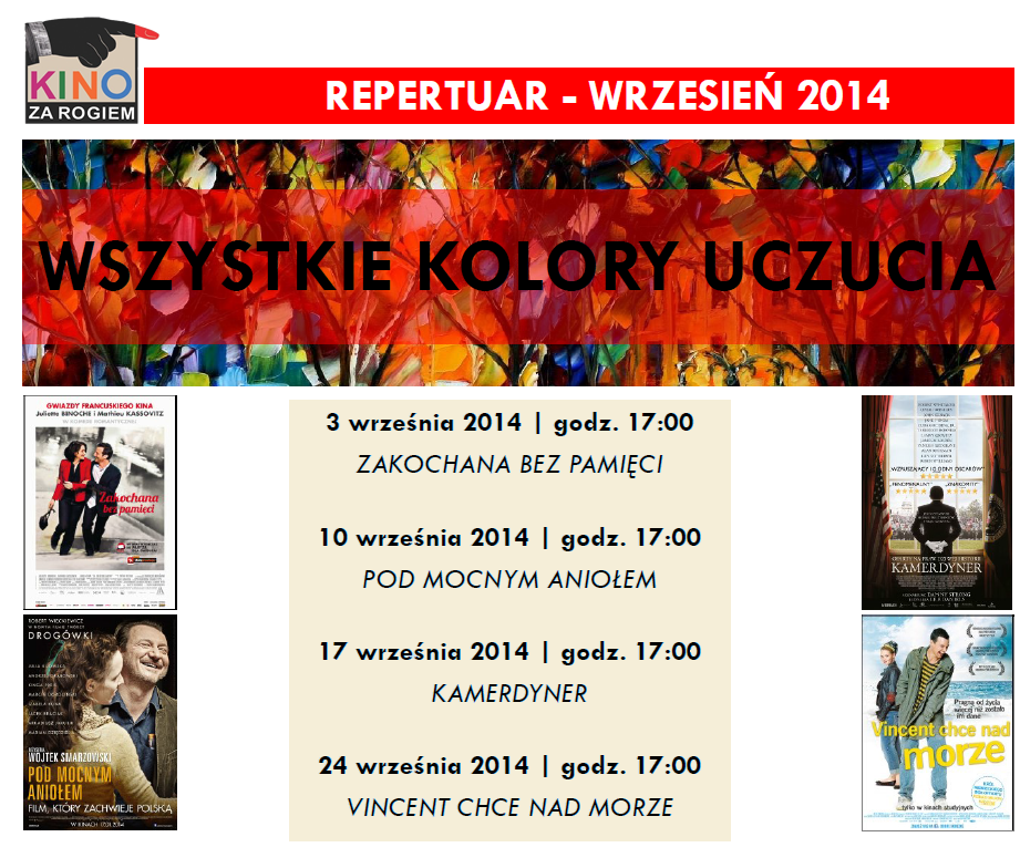 WSZYSTKIE KOLORY UCZUCIA - repertuar na wrzesień 2014