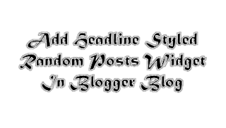 Headline News Styled Blinking Random Posts Widget For Blogger