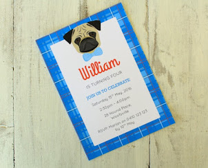 Pug Party Invitation