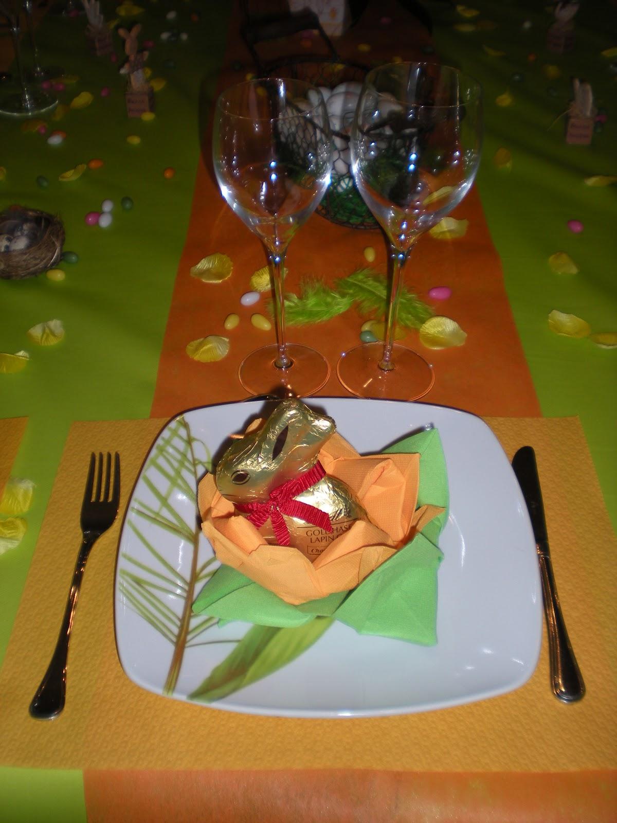 D co de p ques festives d co de table th mes for Idee deco verneuil sur seine