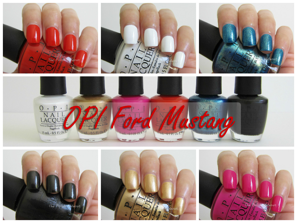 the polish hideout opi ford mustang collection. Black Bedroom Furniture Sets. Home Design Ideas