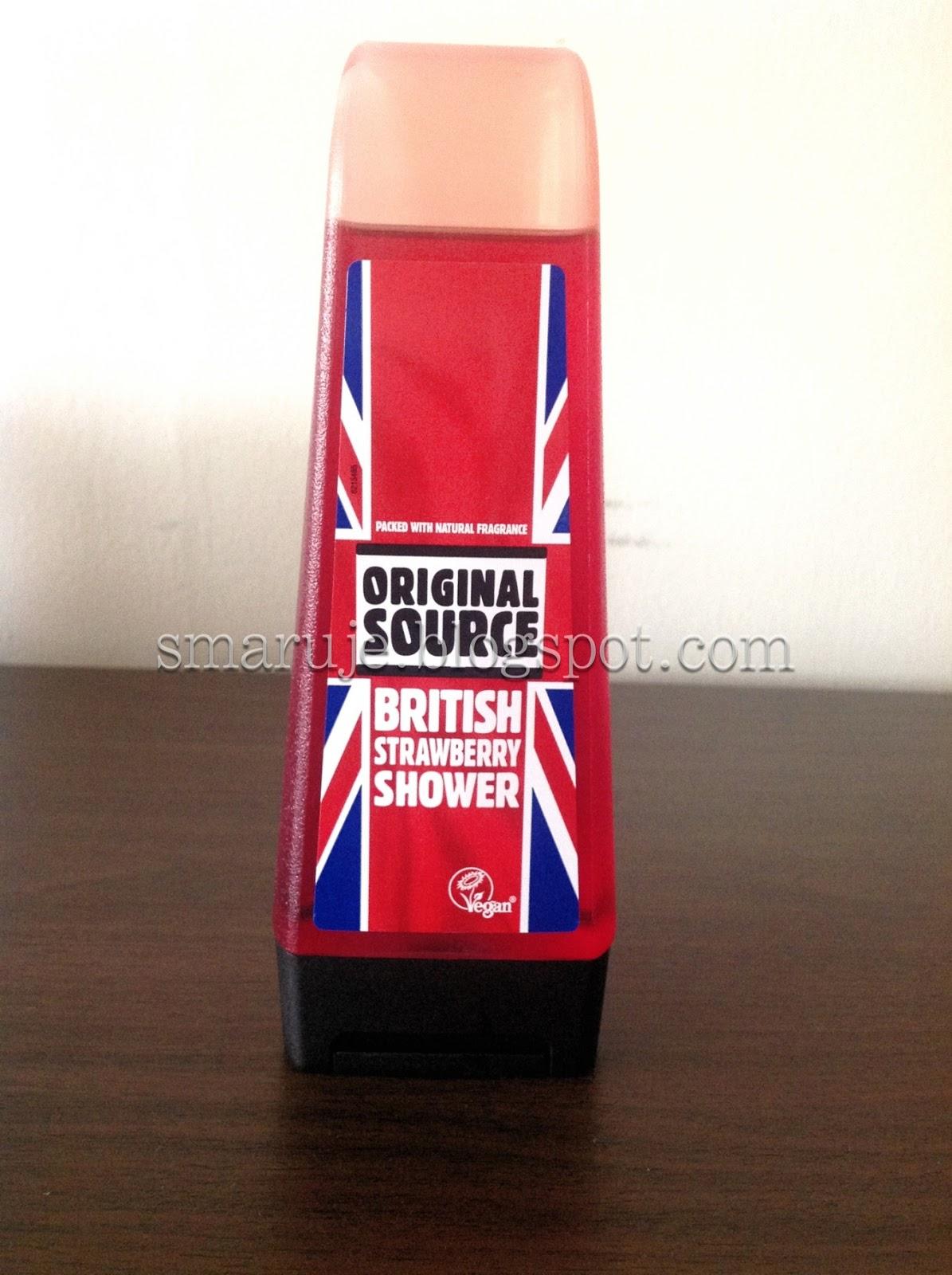 Original Source – British Strawberry Shower – truskawkowy żel pod prysznic [recenzja]