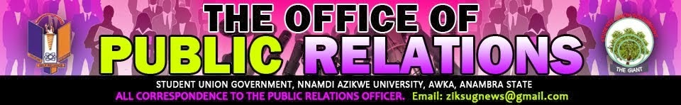 OFFICE OF PUBLIC RELATIONS.SUG UNIZIK