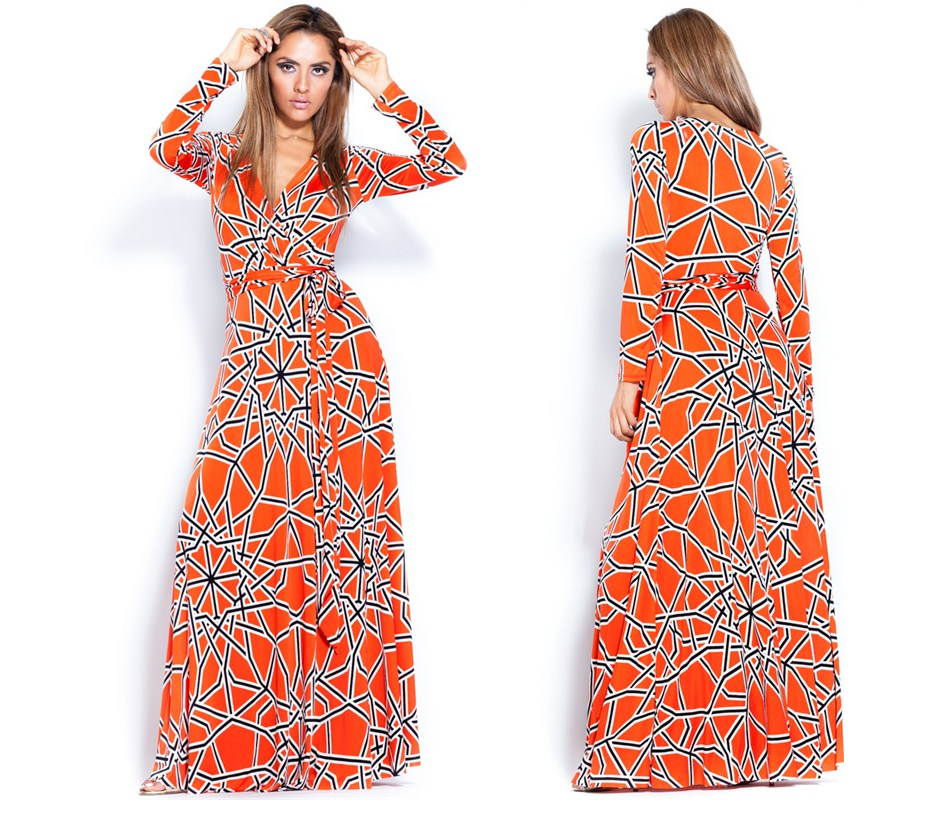 wrap Ibiza maxi dress