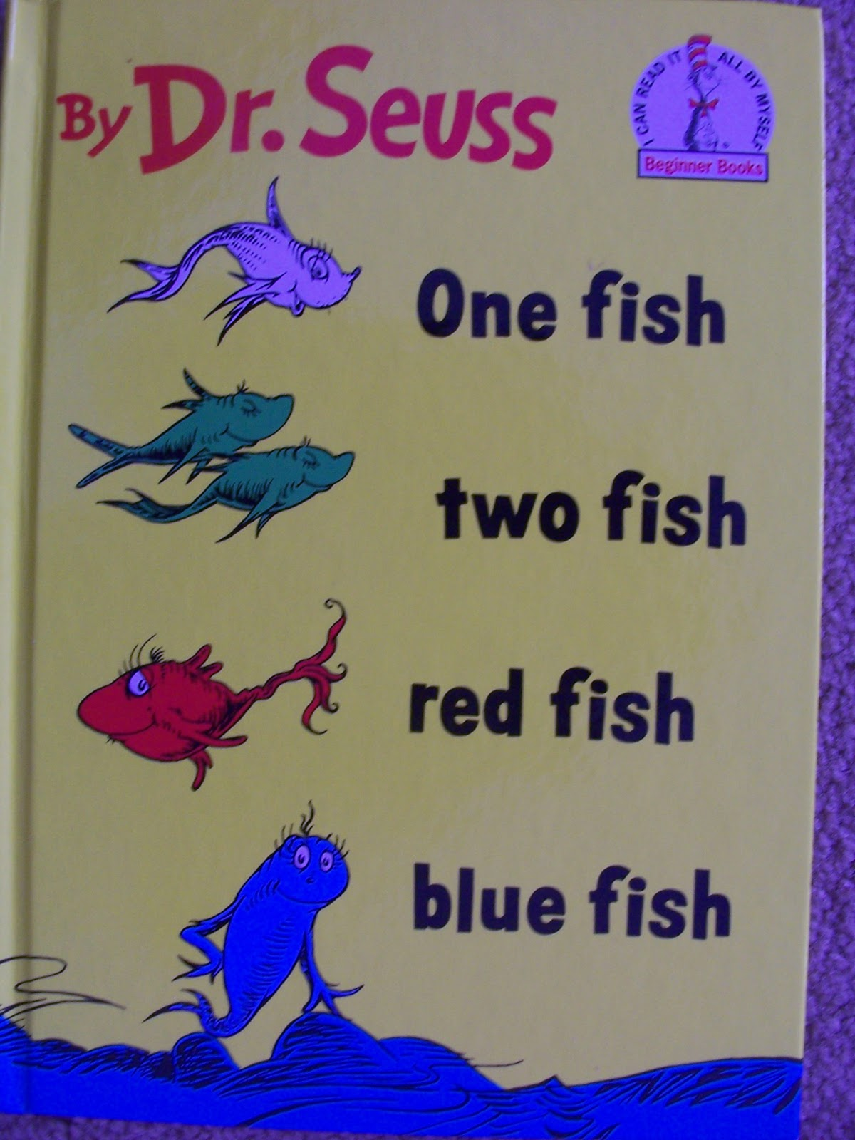 Crafty moms share one fish two fish red fish blue fish for Blue fish book