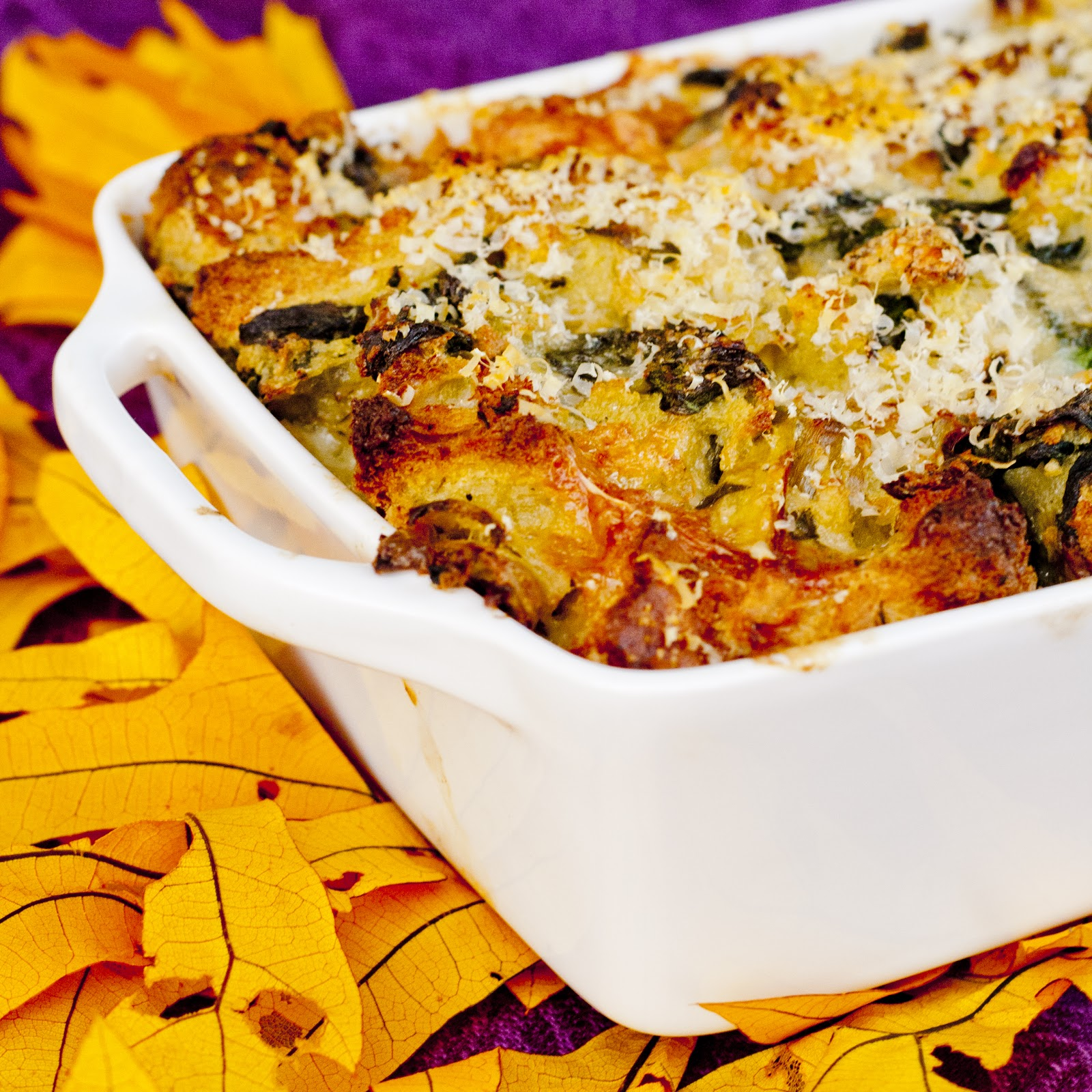 Spinach, Artichoke + Brie Stuffing | Kitchen Vista's