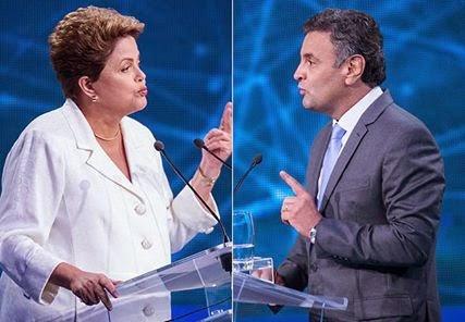Nova pesquisa mostra Dilma à frente de Aécio pela primeira vez.