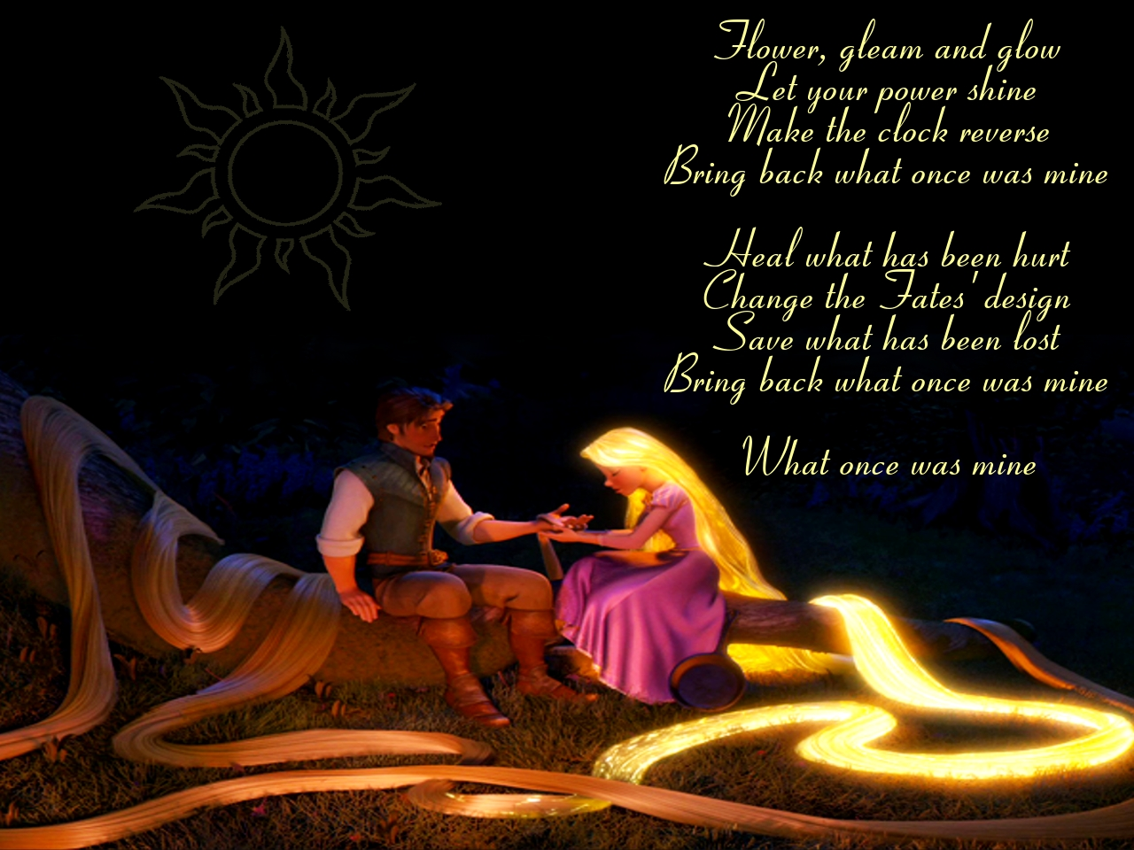 Disney Tangled Healing incantation by rapunzelhime wallpapers for Disney ta