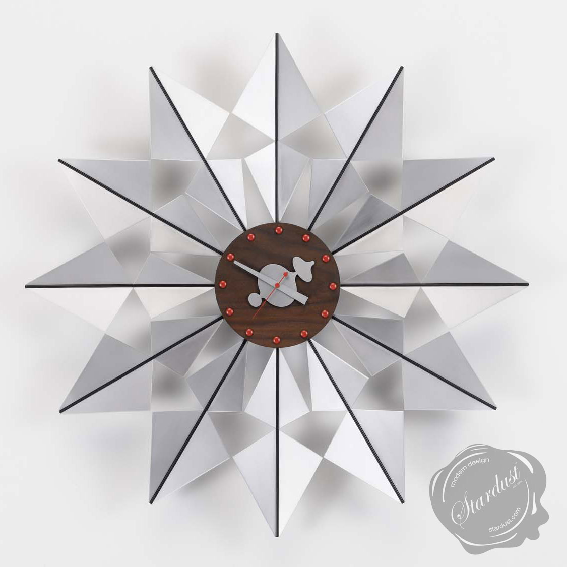 Exceptional BUTTERFLY George Nelson Clock Remarkable Mid/century Modern Clock Design By  George Nelson Clocks, Walnut