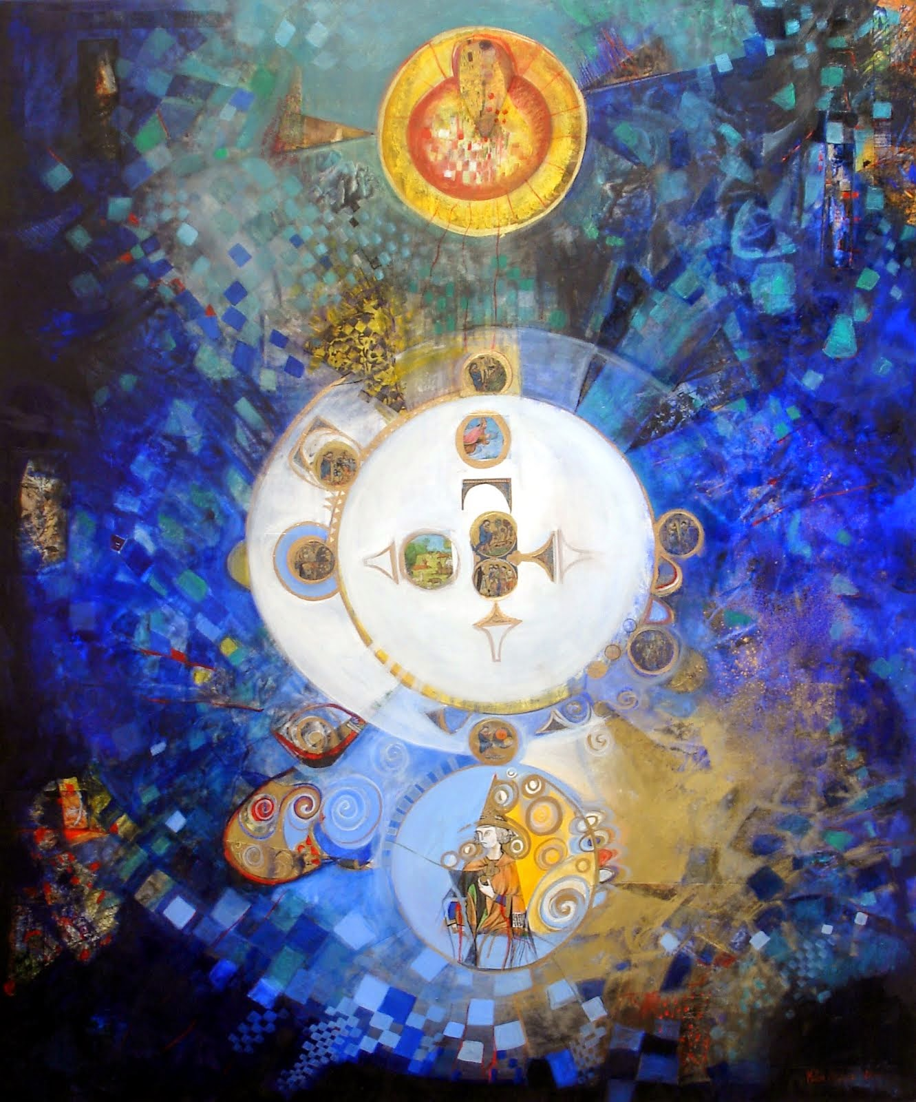 Méditation de Saint-Louis - 100 x 120 cm - 2014