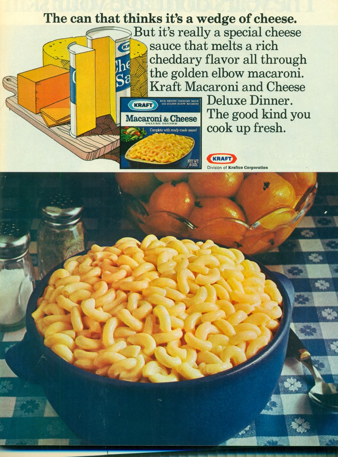 Gold country girls then and now 98 kraft macaroni and cheese for Craft macaroni and cheese