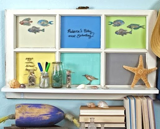 12 DIY Memo Board Ideas with a Coastal Beach Theme