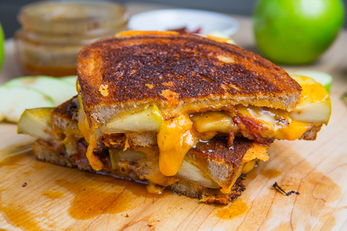 Caramel Apple Grilled Cheese Sandwich (with Bacon!) - CAC
