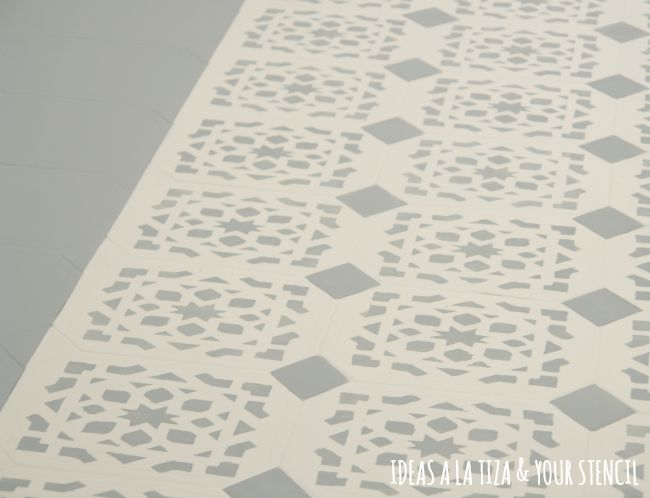 Ideas a la tiza suelo pintado con chalk paint - Barniz para chalk paint ...
