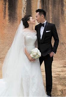 今年2月5日與新加坡富商李云峰登記結婚