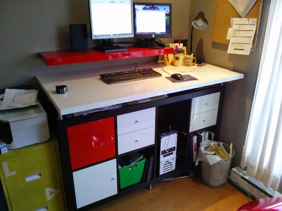 Modern dryerase standing desk IKEA Hackers IKEA Hackers