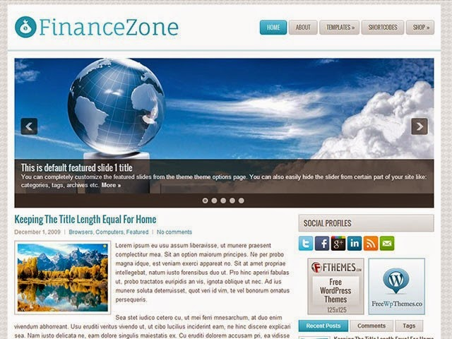 FinanceZone - Free Wordpress Theme
