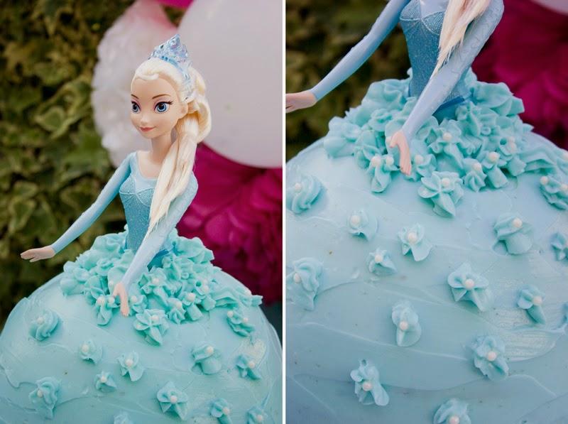 Tarta muñeca Elsa de Frozen11
