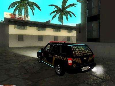 Chevrolet Blazer 2010 Polícia Federal + Skin Para GTA San Andreas