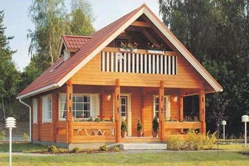 Contoh Model Desain Rumah Kayu Minimalis