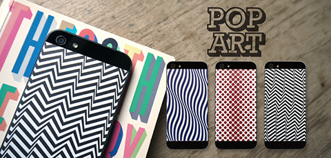 Phone Pop Pop Art Vinyl Backs set for iPhone 5