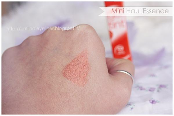 essence gel tint fresh apricot swatch