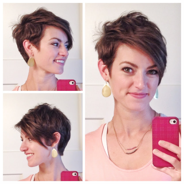 asymmetrical pixie cut with long bangs
