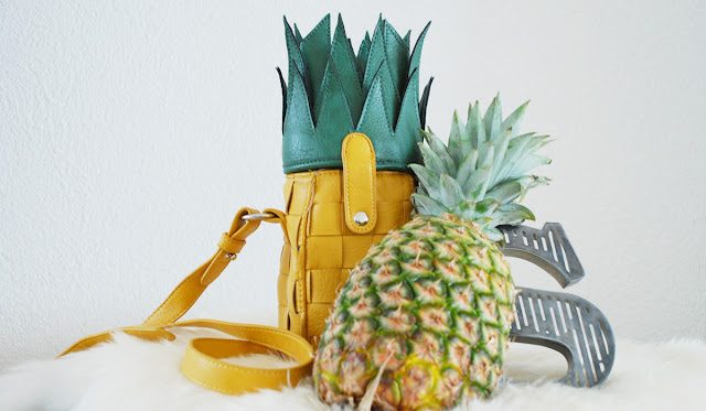 pineapple handbag, asos, fruits in fashion, pineapple