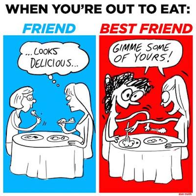 gambar kelakar, beza antara kawan dan bff, kawan vs bestfriend
