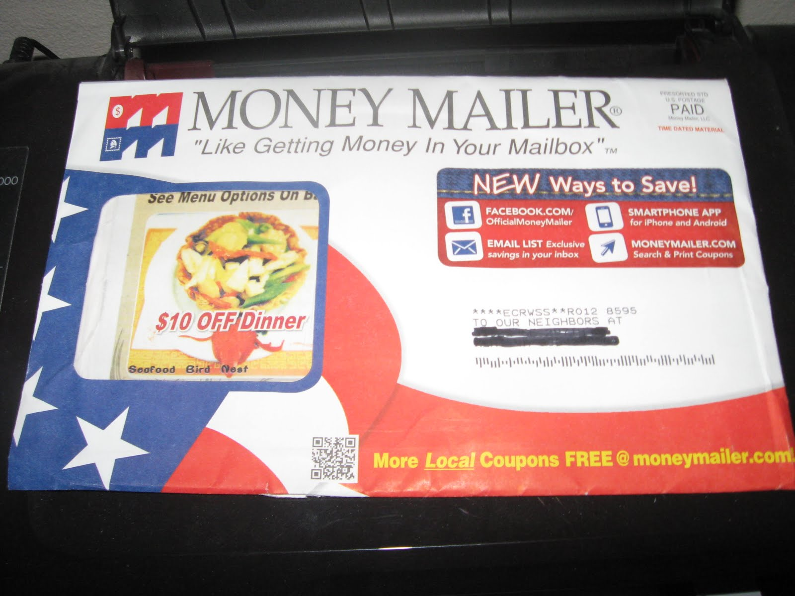 Coupons via postal mail
