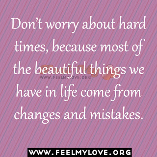 Don't worry about hard times