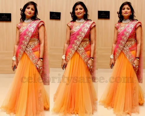 Lace Printed Half Saree