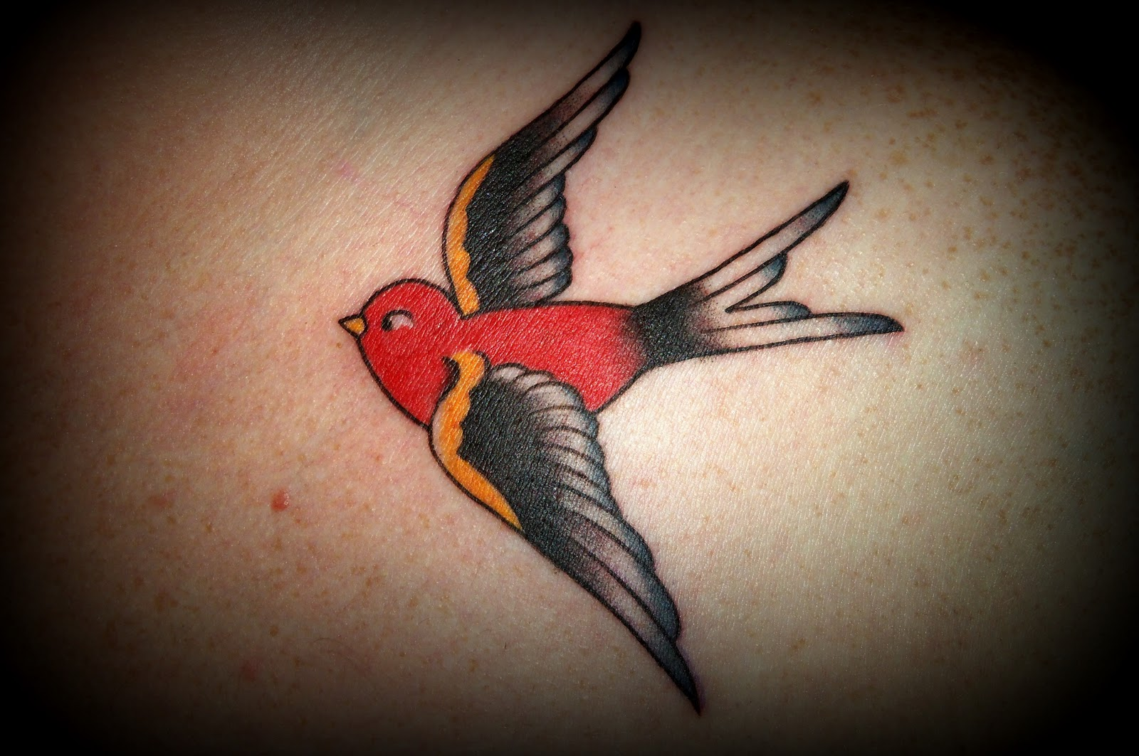 Sailor Jerry Swallow Tattoo With BannerSailor Jerry Swallow Tattoo