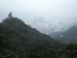 Amah rock , jungle and Shatin in the background.