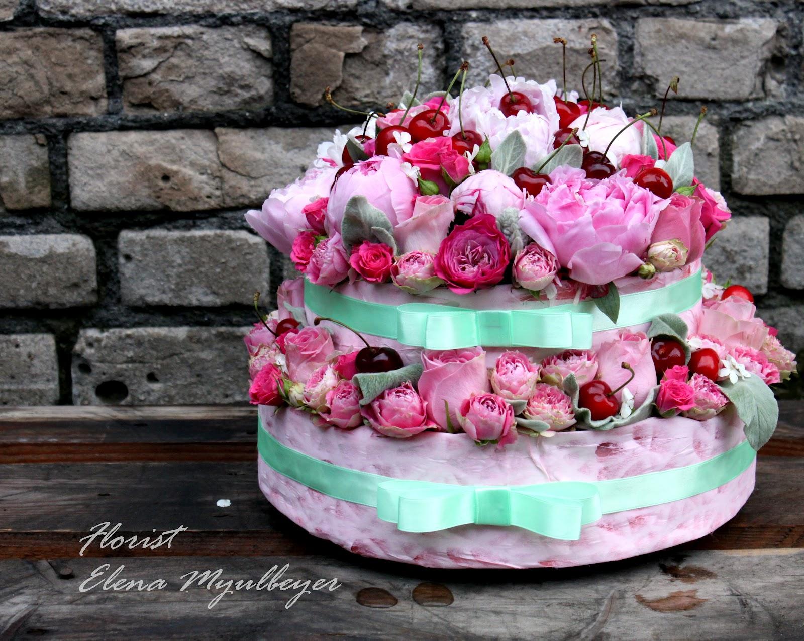 Cakes. Торт из цветов. Торты из цветов. Подарок 24