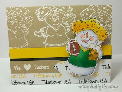 Green Bay Packers Homemade Card