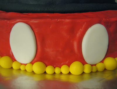 Mickey Mouse Ears Teacher Appreciation Cake - Close-Up View
