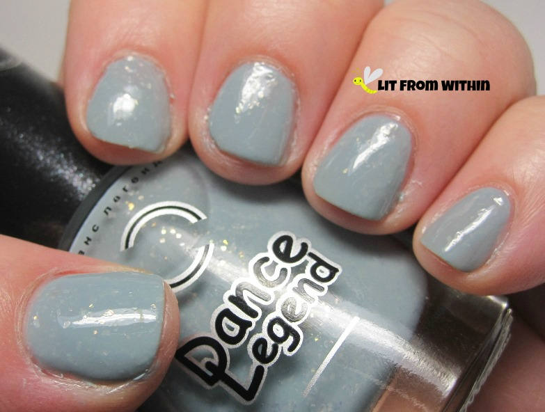Hedgehog In The Fog, a pale blue cream with milky-white flakies