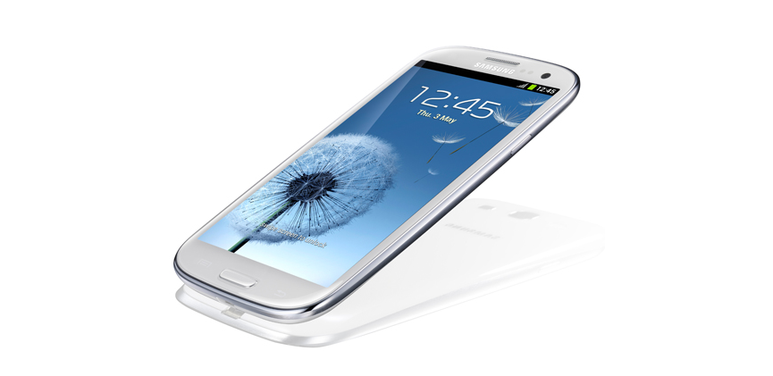 Samsung Galaxy S III from side