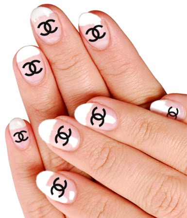Chanel Nail Tips http://ourembrace.blogspot.com/2011/07/new-arrivals-nail-decals.html