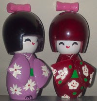 Mis Kokeshi creativas de China