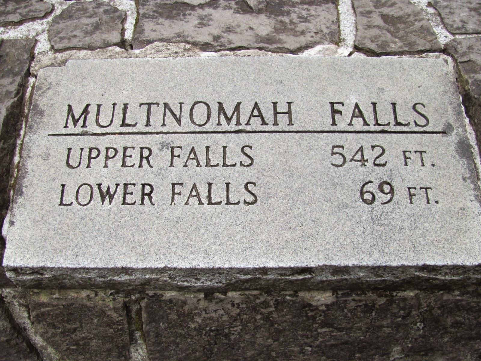 Multnomah Falls sign near Portland, Oregon