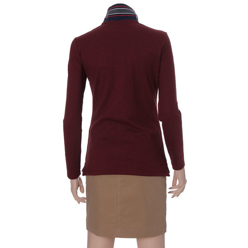 Suede Collared Long Sleeve Shirt