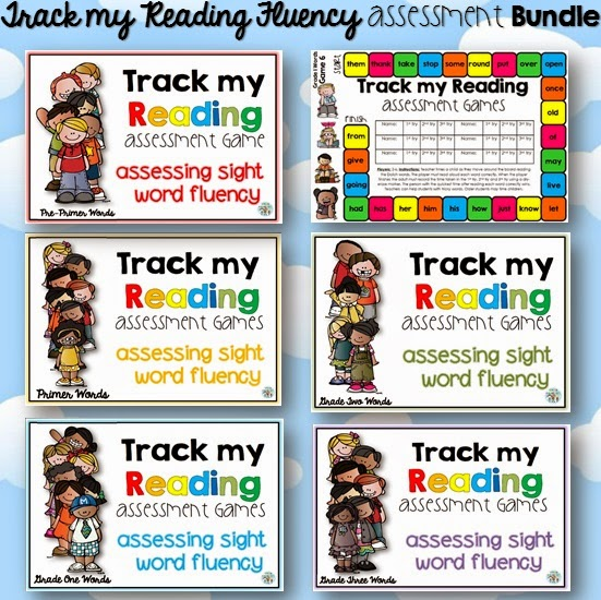 Tracking reading fluency is now fun with this center activity/ asessment