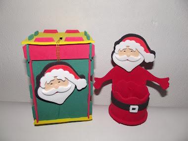 Cofre do Papai Noel e Porta Bombom