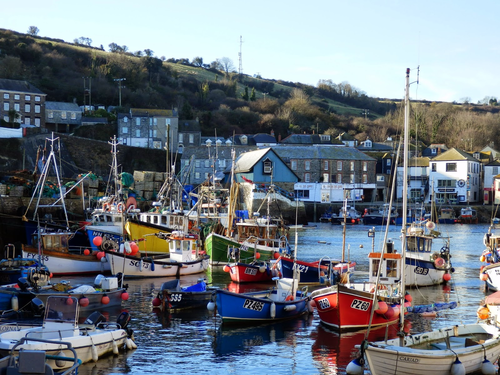 Fishing village of Mevagissey Cornwall