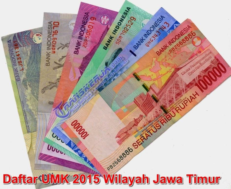 Daftar Lengkap UMK 2015 Wilayah Jawa Timur