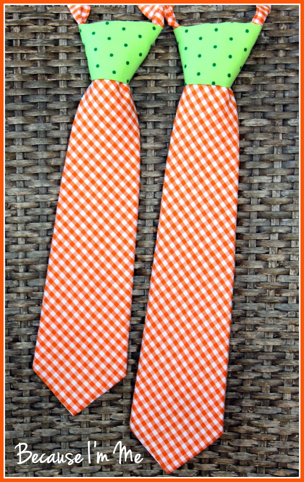 Because I'm Me abstract carrot neckties for toddler and child